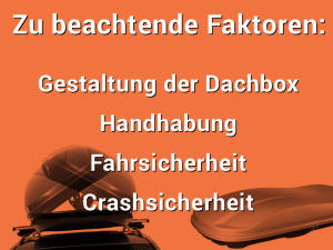 Zu beachtende Faktoren in einem Dachbox Test