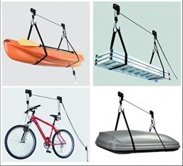 Deckenlift Deckenhalter Fahrradlift 45kg Fahrradgarage Fahrradhalter Seilzug für E-Bike -